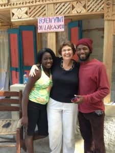 Welcomed by Esther and Herns — this photo was taken within minutes of my arrival.