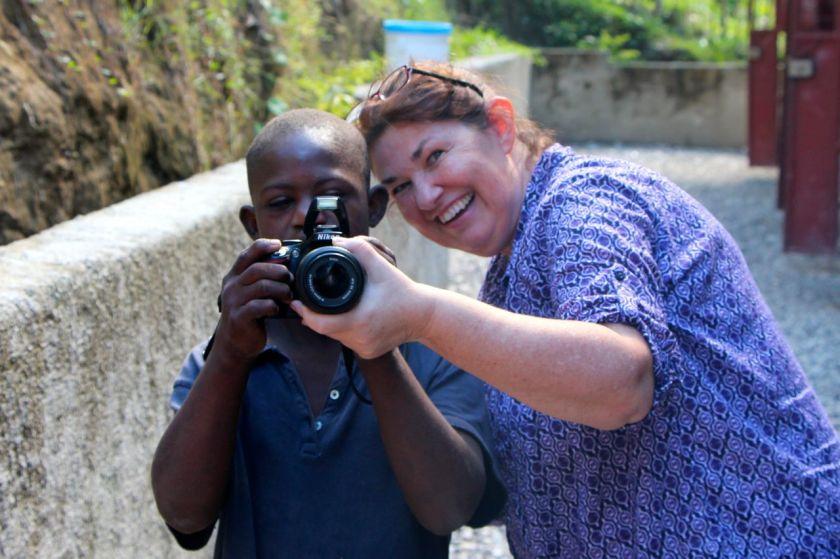 Jackson taking a photo